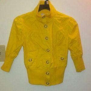 Jackets & Blazers - Yellow half sleeve bomber jacket